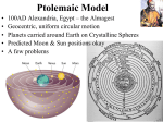 Ptolemaic Model