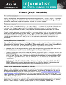Eczema (atopic dermatitis) - Australasian Society of Clinical