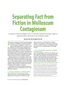 Separating Fact from Fiction in Molluscum Contagiosum