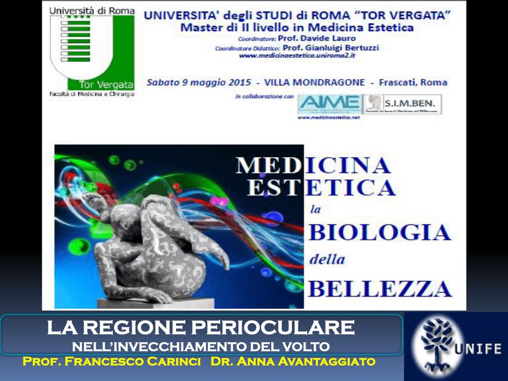 Diapositiva 1 - Medicina Estetica – Università degli Studi