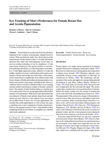 Eye Tracking of Men`s Preferences for Female Breast Size and