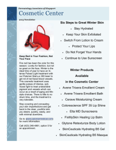 Winter 2013 Newsletter.pub - Dermatology Associates of the Tri