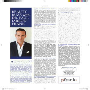 BEAUTY BUzz with DR. PAUL JARROD FRANk