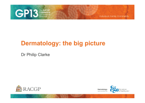 Dermatology: the big picture