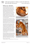 Sebaceous adenitis - Hungarian Vizsla Club of NSW