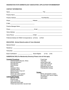 Printable Membership Application - Washington State Dermatology