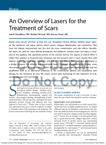 An Overview of Lasers for the Treatment of Scars R