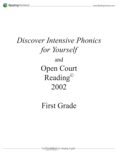 Discover Intensive Phonics for Yourself