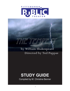 Tempest Study Guide - Pittsburgh Public Theater