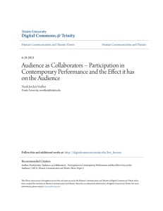 Audience as Collaborators - Digital Commons @ Trinity
