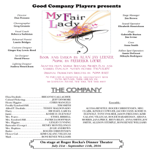The Company - Roger Rocka`s Dinner Theater