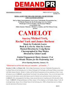 camelot - La Mirada Theatre for the Performing Arts
