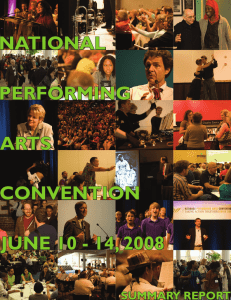 NPAC 2008 Final Report - National Performing Arts Convention