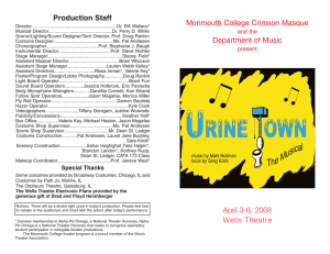 Playbill  - Monmouth College