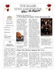 Winter Newsletter - The Dalles Civic Auditorium