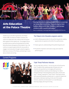 Arts Education at the Palace Theatre