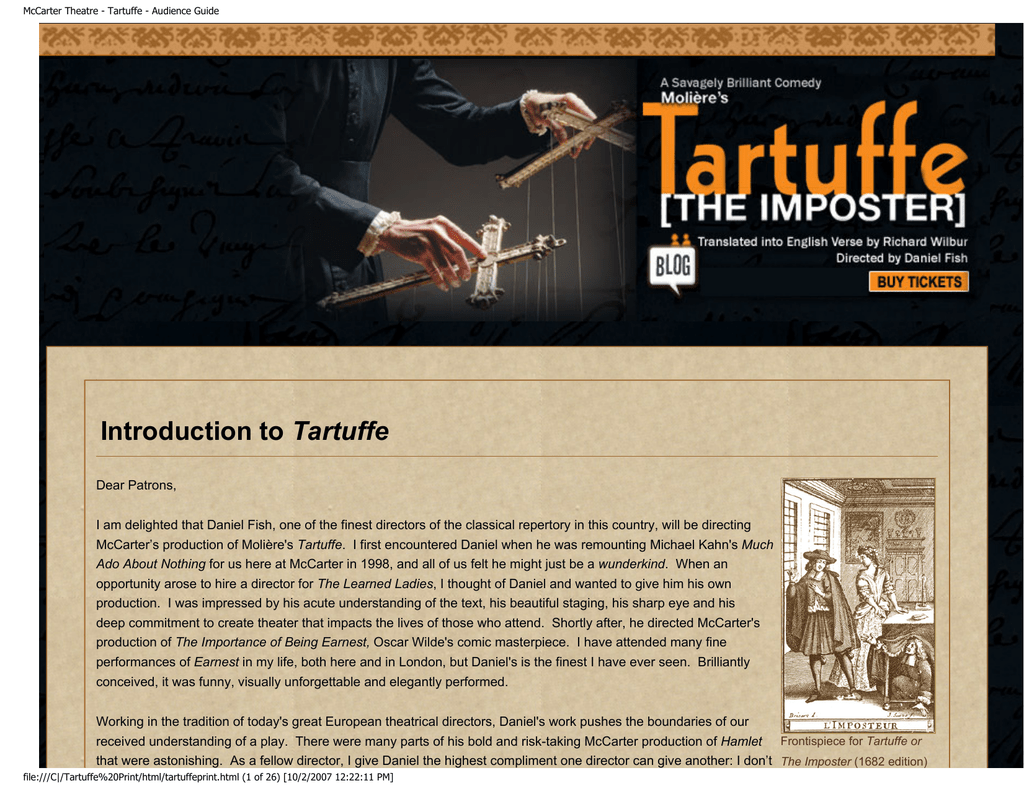 tartuffe criticism