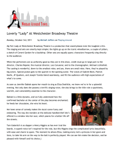 Woman About Town - Westchester Broadway Theatre
