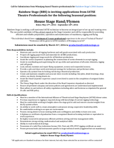House Stage Hand/Flymen
