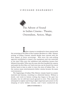 The Advent of Sound in Indian Cinema