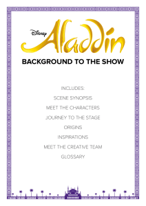 BACKGROUND TO THE SHOW - Aladdin Education | Home