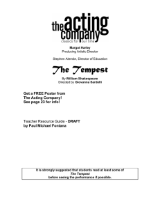 The Tempest - The Acting Company