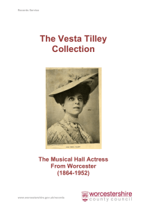The Vesta Tilley Collection - Worcestershire County Council