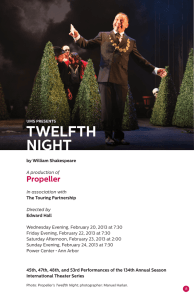 twelfth night - University Musical Society