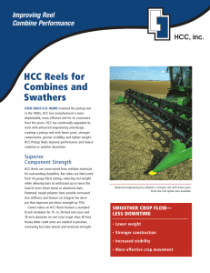 HCC Reels for Combines and Swathers