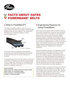 Facts About Gates PowerBand® Belts: White Paper