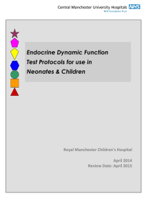 endocrine dynamic function test protocols