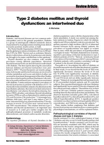 Type 2 diabetes mellitus and thyroid dysfunction: an intertwined duo Review Article Introduction
