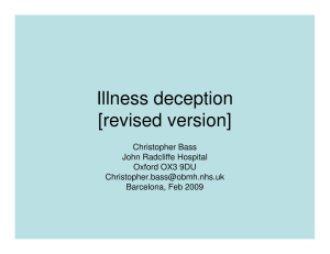 Illness deception [revised version]