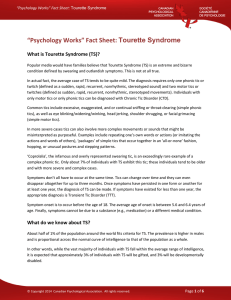 Tourette Syndrome - Canadian Psychological Association