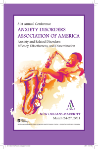 Anxiety Disor - Anxiety and Depression Association of America, ADAA