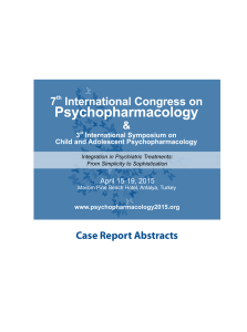 Case Report Abstracts