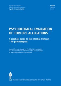 psychological evaluation of torture allegations