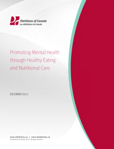 Promoting Mental Health Through Healthy Eating And