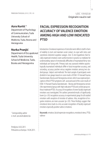 facial expression recognition accuracy of valence emotion among