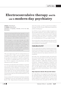 Electroconvulsive therapy and its use in modern