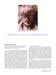 Maimonides`s primer for treating bipolar illness
