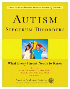 spectru m disorders - American Academy of Pediatrics