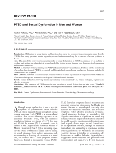 PTSD and Sexual Dysfunction in Men and Women