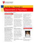 Monthly News - February 2012 - Department of Psychiatry, Case