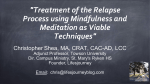Treatment of the Relapse Process using Mindfulness and