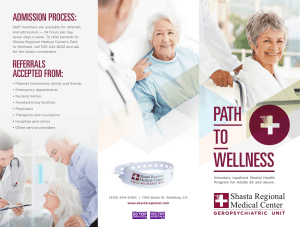 PATH TO WELLNESS - Shasta Regional Medical Center