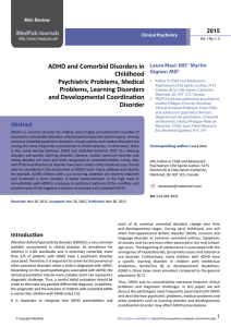 ADHD and Comorbid Disorders in Childhood Psychiatric Problems