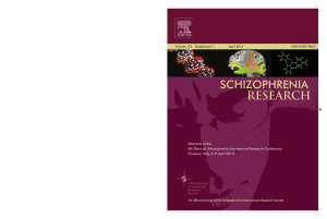 SCHIZOPHRENIA Research