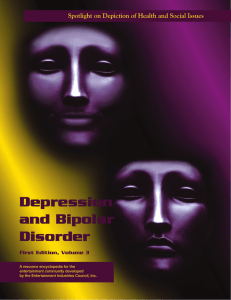 Depression And Bipolar Disorder - Entertainment Industries Council