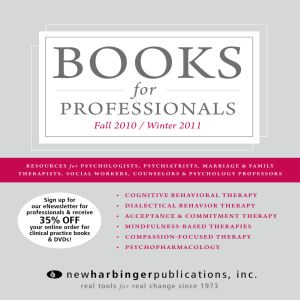 BOOKS PROFESSIONAlS for Fall 2010 / Winter 2011